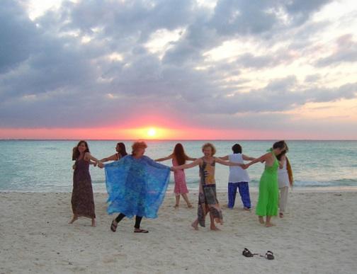 circle on beach