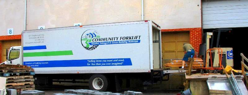 CF truck being unloaded