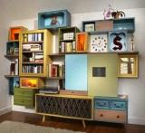 PIC OF MEDIA CENTER MADE FROM REPURPOSED CABINETS