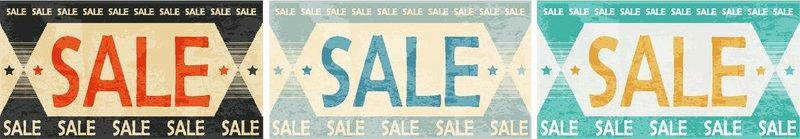 Sale Vintage Banner