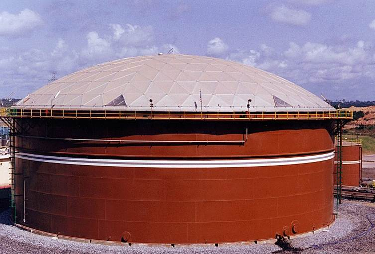 Clear span aluminum domes for api storage tanks