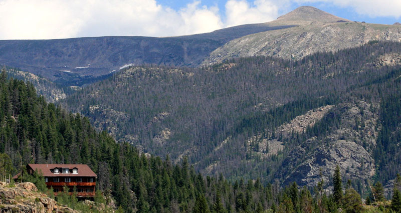 Shadowcliff Lodge is nestled in the Rocky Mountains