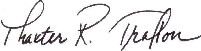 Thaxter Trafton signature
