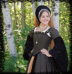 Black Anne Boleyn Gown