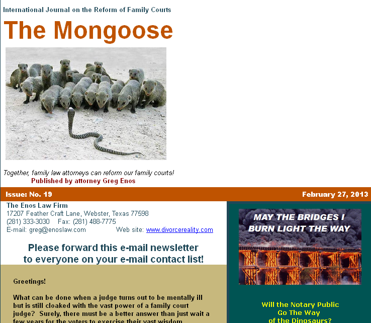 sample mongoose newsletter