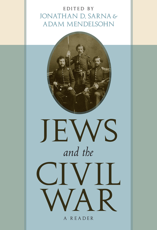 Picture of Book Cover for Jews and the  Civil War by Jonathan Sarna