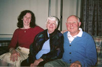 Photo of Ellen Smith and Elaine and Bernie Reisman