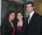 Picture of Three Recent Hornstein Graduates