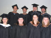 Photo of Hornstein Students in Commencement Regalia 2009