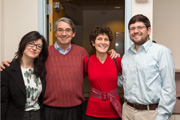 Photo of faculty members Joe Reimer and  Amy Sales with two students
