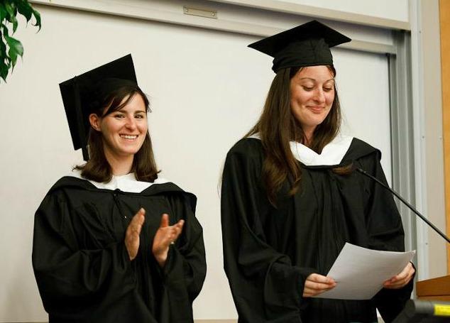 Photo of Hornstein graduates, Sami Stein and Jessica Lowenthal