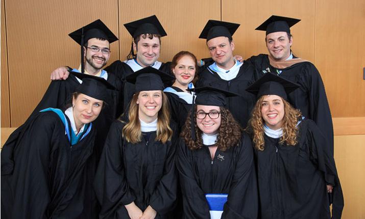 Photo of Hornstein Graduates in Regalia