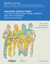 Photo of Engaging Jewish Teens report cover