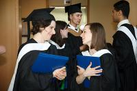 Photo of three Hornstein Graduates