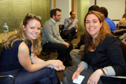 Photo of Hornstein alumni, Julia Smirnova and student, Elesheva Massel