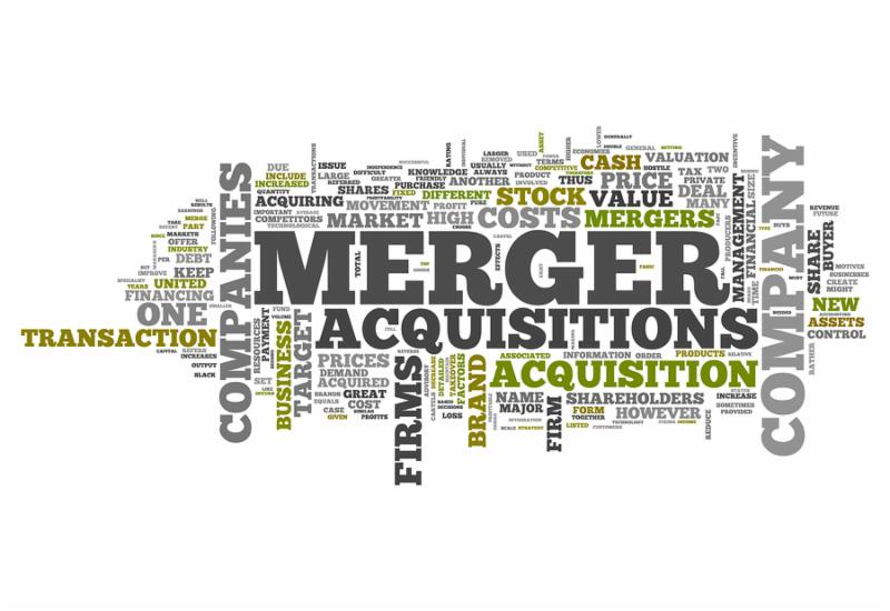 Word Cloud with Merger   Acquisitions related tags