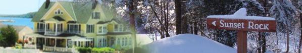Winter at Mackinac Island