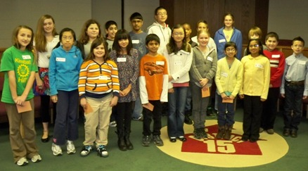 2012 District 15 Spelling Bee Participants
