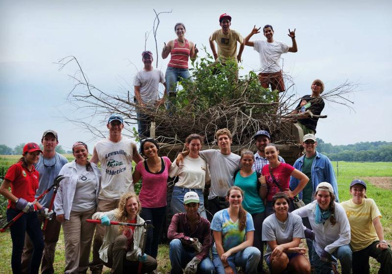 CEFS interns at the Agroecology Education Farm