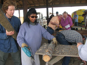 Participants at the Shiitake Mushroom Production workshop in March