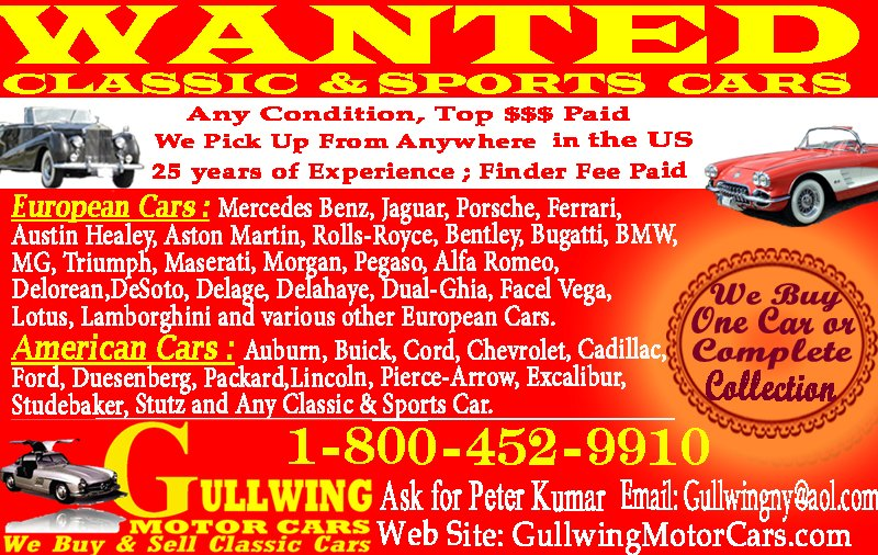 Wanted Classic & Sports Cars