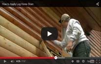 Applying Log Home Stain Video
