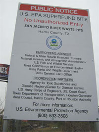 San Jacinto Super Fund Site Sign