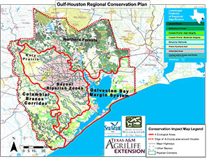 Gulf-Houston Regional Conservation Plan Ecological Map