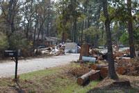 Storm Debris from Hurricane Ike