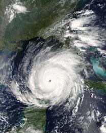 Hurricane Rita Aerial Image