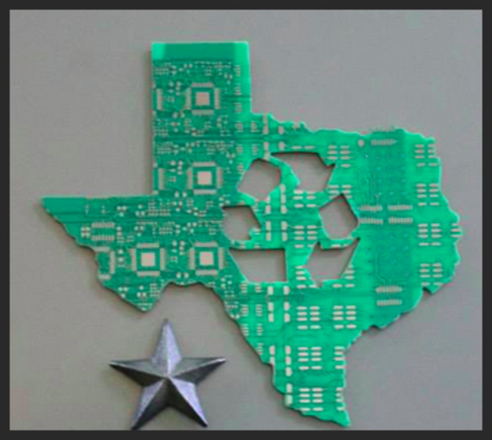 Texas with Recycling symbol