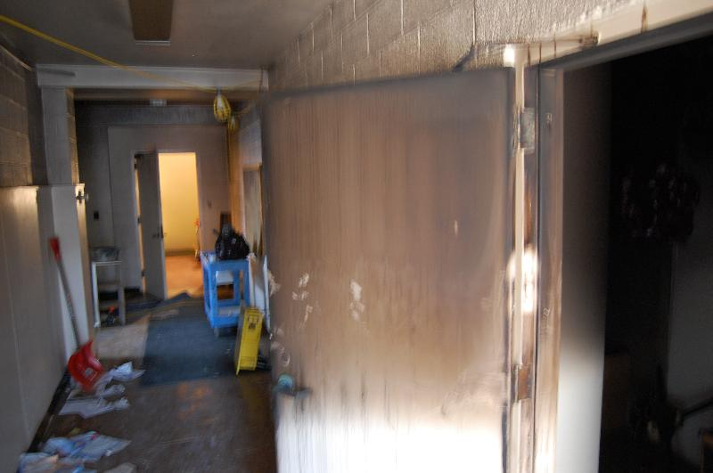 Fire damaged coridoor