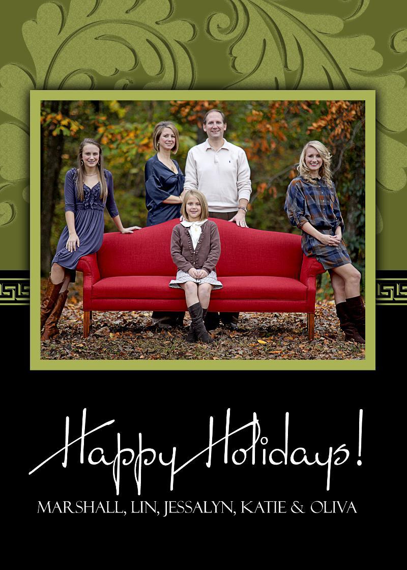 fall family 2010 holiday card