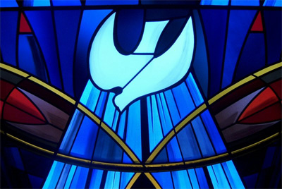 Atonement Boulder stained glass