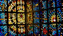 stained glass from Bethlehem Lutheran Church in Los Alamos, NM