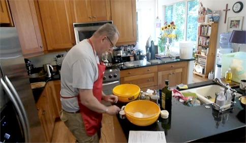 Baking Communion Bread with Pastor Ron Glusenkamp