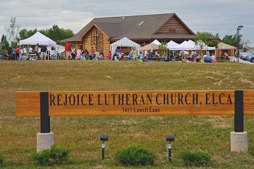 Rejoice Lutheran Church sign