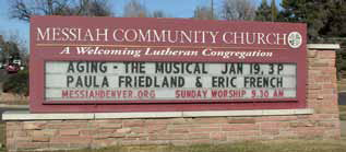 Aging-the Musical church sign announcement