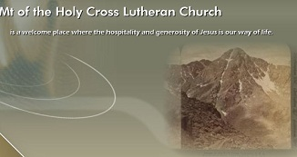 Mount of the Holy Cross Lutheran Church banner