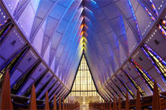 Air Force Academy Chapel inside