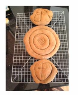 Communion bread by Pastor Ron Glusenkamp