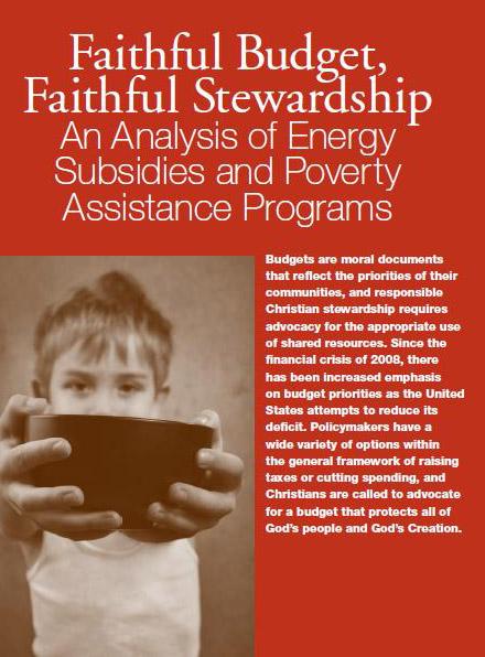 Faithful Budget, Faithful Stewardship report cover