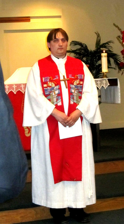Pastor Joshua Bruns ordination photo