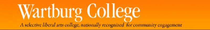Wartburg College banner