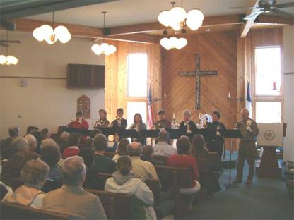 Inside Faith Lutheran Church in Lander, WY