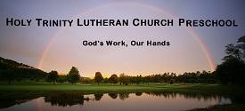 Holy Trinity Lutheran Preschool banner