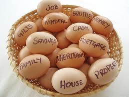 basket of eggs for USC fundraiser