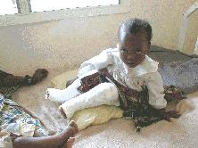 Crippled child at Selian Hospital