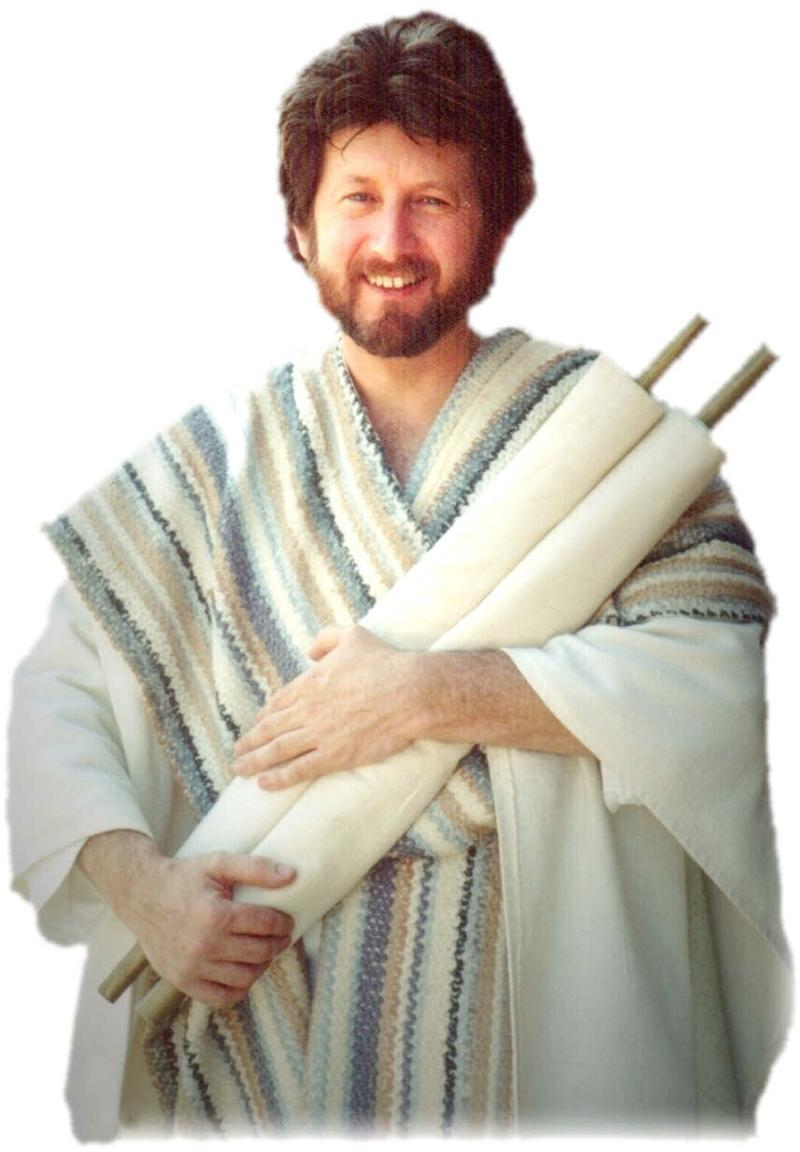 man holding scrolls