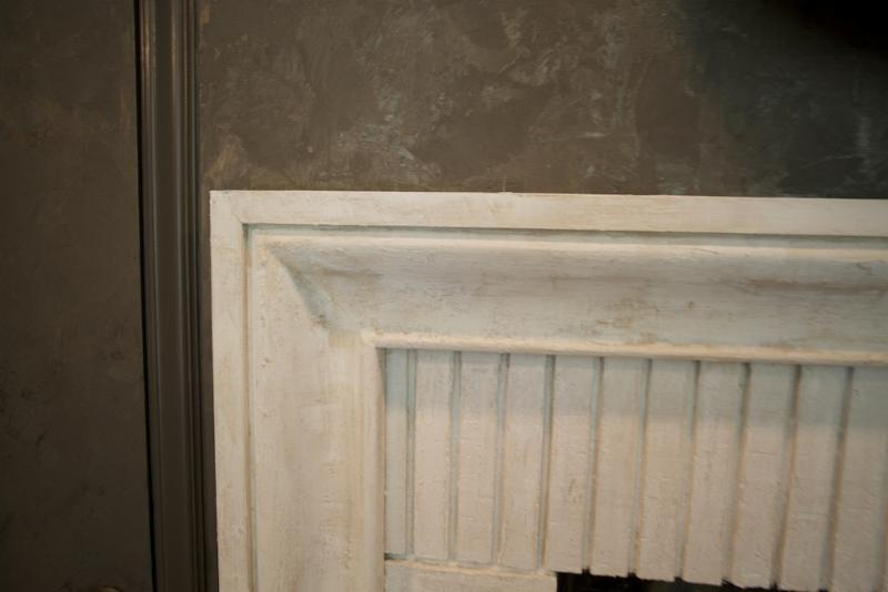 Closeup of fire place detail